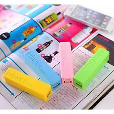 Portable Battery Back up External Charger Power Bank 2600mAh for Samsung iPhone