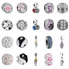 Fashion Zirconia Pendant 925 Silver Charms Bead Fit Sterling Bracelets Necklace