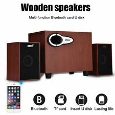 4W Wireless Bluetooth Speaker Wooden Stereo Dual Loudspeaker For Phone iPad DH