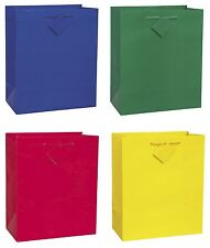 Solid Colour LARGE GIFT BAGS (Present/Birthday Party/Any Occasion) 32x27cm
