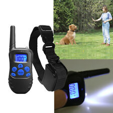 US 300 Yard Waterproof Rechargeable LCD Electric Remote Dog Train Shock Collar
