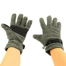 Men's Winter Waterproof Thinsulate 3M Super Thick Marled Fleece Gloves Gray