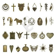 Antique Brass Metal Pendant Charms Supplies Jewelry Findings 30 Style Wholesale