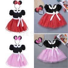 Girls Baby Cute Minnie Mouse Polka Dots Ears Dress Party Cos Costume Fancy Dress