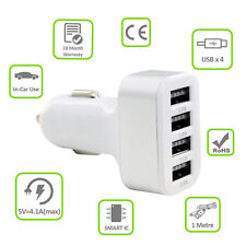 Multi Port Micro USB 4 in 1 Car Charger Adapter Fast Charge 4.1A For Cell Phone