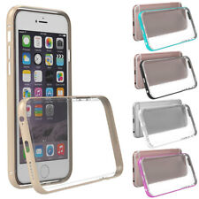 Hybrid Metal Bumper Frame Case Cover TPU-Hard Back Cover for iPhone 6/6s Plus