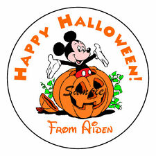 Mickey Mouse Halloween Party Favor Trick or Treat Candy Labels Stickers