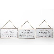 Wooden Vintage Shabby Chic Sign Plaque Slogan Kitchen Coffee Hand Crafted Rustic