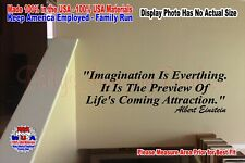 IMAGINATION IS EVERYTHING PREVIEW LIFE Inspirational Secret Vinyl Wall Quote