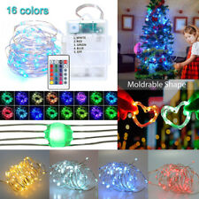 5M 50LED Multi-Color Changing Remote Timer Control Waterproof Decor String Light