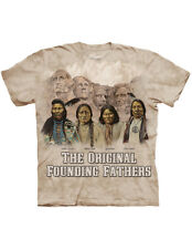 NEW NWT The Mountain Original Founding Fathers Rushmore Native Americans T-Shirt