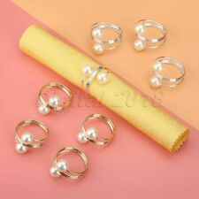 10Pcs Napkin Rings Serviette Buckle Holder Wedding Dinner Party Table Decoration
