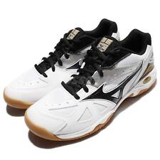 Mizuno Wave Gate 4 White Black Men Volleyball Badminton Indoor Shoes 71GA16-4011