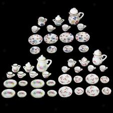 1/12 Dolls House Miniature Kitchen Dining Ware Coffee Tea Set Plate Dish Cup Pot