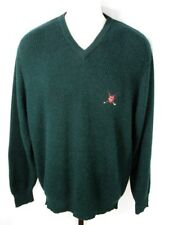 "Ralph Lauren Polo Golf Green Alpaca V Neck Sweater Size M 46"" Chest"