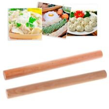 Solid  Beech Wooden Pastry Rolling Pin Tapered Rod Pasta Dough Bakery Roller