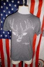 VTG 90s Whitetail Deer Lost Creek Outfitters T-Shirt MD 50/50 heather gray
