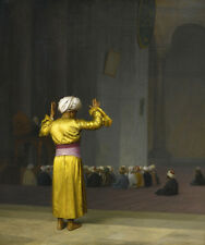 PRAYER IN THE MOSQUE ORIENTALISM PAINTING BY JEAN LEON GEROME REPRO