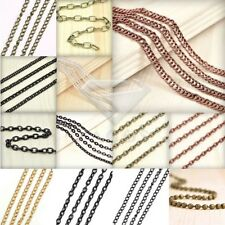 4m/13.12 feet Unfinished Chain Necklace Woven Curb DIY 4.1x2.7mm 4 COLOR JA