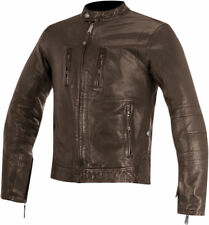 Alpinestars Oscar Mens Tobacco Brown Brass Leather Motorcycle Road Riding Jacket