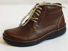 Footprints Perth Birkenstock Colour 38 Leather Ankle Boots Brown Narrow NEW
