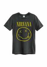Amplified T-Shirt Men Nirvana Smiley Face Charcoal