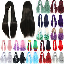 Uk Seller Fashion Full Wigs Real Long Thick Synthetic Hair Anime Party Cosplay