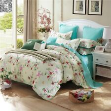 Quilt Duvet Doona Cover Set Pink Florals Double/Queen King Size Bed Pillow Cases