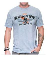 Harley-Davidson Men's Winged Racer Crew Neck Short Sleeve T-Shirt, Athletic Gray