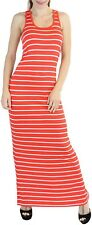 ToBeInStyle Women's Seamless Striped Racerback Scoop Neck Maxi Dress Wide Straps