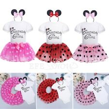Minnie Mouse Girls Tutu Skirt Kids Toddler Birthday Girl Party Dress Outfits Set