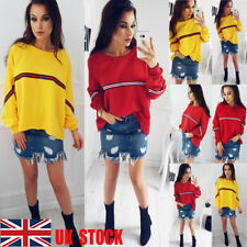 US Women Batwing Long Sleeve Casual Tops Autumn Tee Shirt Loose Blouse Plus Size