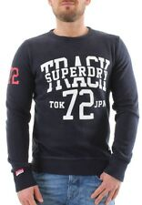 SuperDry Pullover Men Trackster Crew Truest Navy