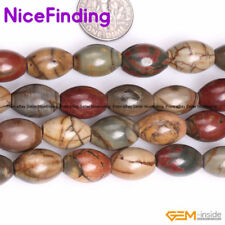 Assorted Shape Natural Picasso Jasper Gemstone Beads Jewelry Making Strand 15""