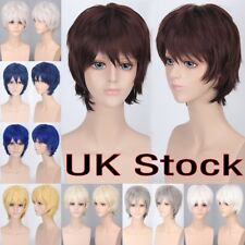 Cosplay Party Straight Hair Men Anime Fashion Short Wig Cosplay Full Wigs ghk