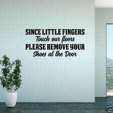 Wall Decal Please Remove Your Shoes At The Door Vinyl Sticker GD499