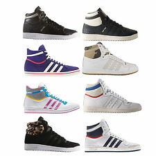 ADIDAS ORIGINALS TOP TEN HI HIGH Women's Sneaker Gym Shoe Lace Up Shoes
