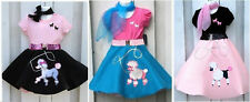 Girls 50s Fifties Poodle Skirt Set Pageant Costume Choose Sz,Color FREE SHIPPING