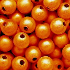 MIRACLE BEAD ORANGE COLOR IRIDESCENT 4MM 6MM 8MM ROUND JEWELRY CRAFT BEADS