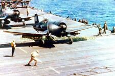 USN F4U Corsair Color Photo Navy Military Carrier WWII KOREA Aircraft  F-4U