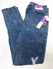 NWT Mossimo Denim Mid-Rise Skinny Jeans Super Stretchy Womens Distressed
