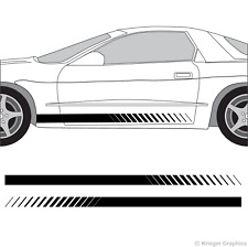 Pontiac Firebird & Trans Am Faded Rocker Panel Racing Stripes 3M Vinyl Decal Kit