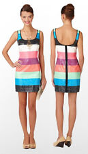 Lilly Pulitzer Lucy Sequin Multi Printed Stripes Colorblock Shift Dress