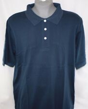 NEW Mens KING SIZE B&T Navy Blue 3 Button Polo Style Collar Short Sleeve Shirt
