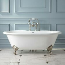 Signature Hardware Sanford Cast Iron Clawfoot Tub with Imperial Feet