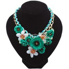 New Fashion Women Chain Acrylic Crystal Flowers Wedding Party Casual SH