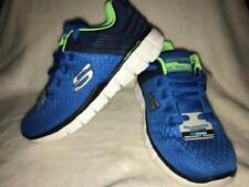 Boy's Youth SKECHERS Blue/Green RELAXED FIT Casual Sneakers Shoes 97375 NEW