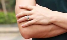 Womens Mens Stainless Steel Ring Titanium Wedding CZ Free Shipping