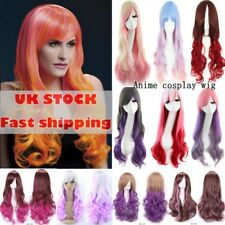 Lady Fashion Long Straight Full Hair Wig Carnival Cosplay Party Hairpiece Vfgb
