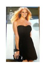 New Next Miss Nx Strapless Black Grecian Drape Corsage Dress Sz UK 12